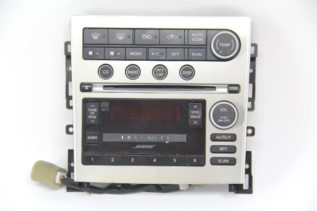 Infiniti G35 Display CD Audio Climate Control Frame W/O Navigation 05 06 07