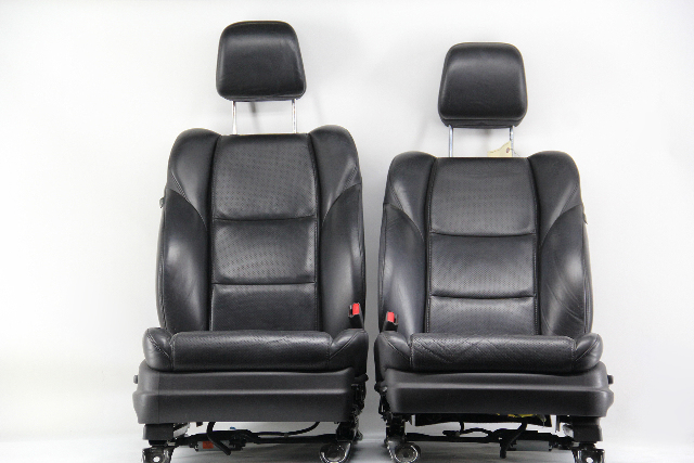 Acura TL Front Left & Right Seat Assembly Set Black Leather 2010 OEM