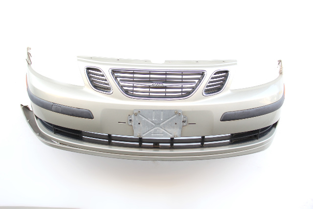 Saab 9-3 Sedan 07 Front Bumper Face Cover Green Full Assembly 12788061 OEM 2007