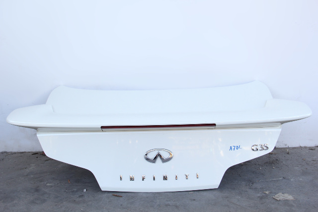 Infiniti G35 Coupe Trunk Deck Lid Tail Gate, White H4300-AM8AM 03-07