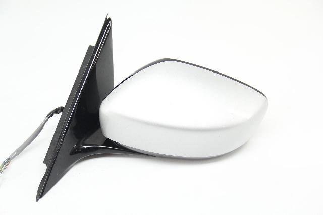 Infiniti G37 09-13 Sedan Power Side View Mirror, Left/Driver Silver OEM