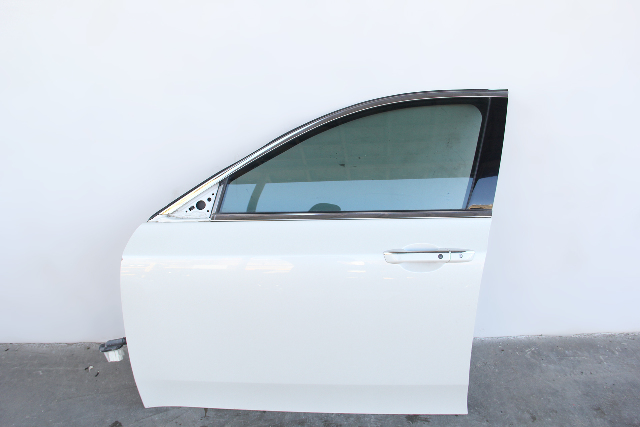 Acura TL 09-14 Front Door Assembly Left/Driver Side Pearl White OEM