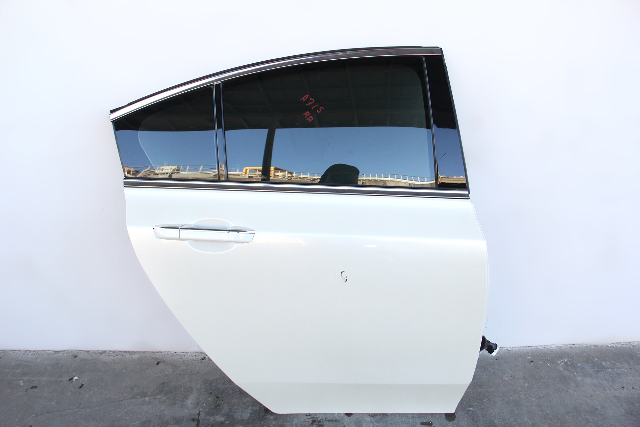 Acura TL 09-14 Rear Door Assembly Right/Passenger's Side Pearl White 67510-TK4-A90 OEM