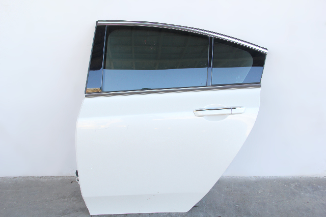 Acura TL 09-14 Rear Door Assembly Left/Driver's Side Pearl White OEM