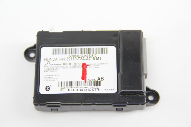 Honda Accord 13-15 Bluetooth Phone Control Unit Module Assembly, 39770-T2A-A715 OEM