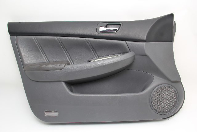 Honda Accord Sedan Front Door Panel Trim Left/Driver Leather Gray OEM 03-07