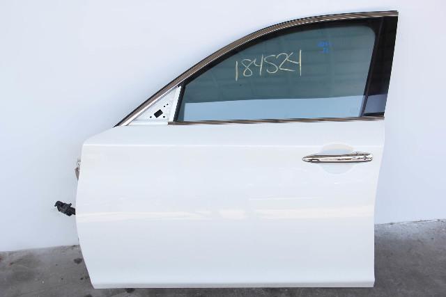 Infiniti M37 Sedan Front Door, Left Side Electric White, OEM 11-13 2011-2013