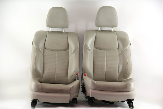 Infiniti M37 Sedan 12, Front Left Right Seat Set Gray Assembly OEM 2012