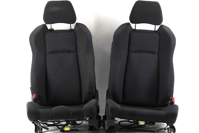Nissan 350Z 03-06 Front Seat Left/Driver Right/Passenger Black/Orange Cloth