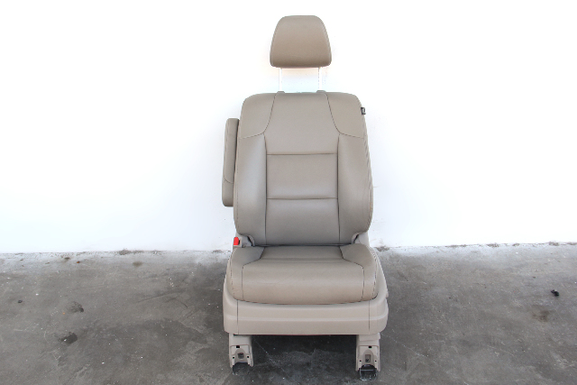 Honda Odyssey Front Seat Set Left Driver Leather Tan/Beige OEM 11 12 13