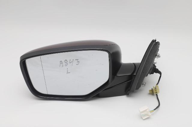 Honda Accord Sedan Side View Mirror Left/Driver Burgundy OEM 2013-2017