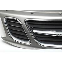Saab Sedan 9-3 08-11 Front Bumper Center Grille Grill, Chrome Set 12765507 2008, 2009, 2010, 2011