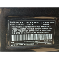 2003 Saab 9-3 Linear Parts Vehicle AA0699