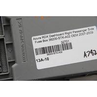 Acura RDX Dashboard Right Passenger Side Fuse Box 38200-STK-A02 OEM 2007-2009