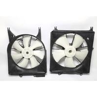 Acura RDX Radiator Cooling Fan Shroud 5/7 Blade Set (2) OEM 07-12 AWD A939 2007, 2008, 2009, 2010, 2011, 2012