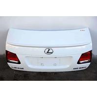 Lexus GS350 Trunk Decklid Luggage Lid White 64401-30B10 OEM 07-11 A909 2007, 2008, 2009, 2010, 2011