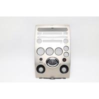 Infiniti QX56 Climate Radio Control Bezel Trim Garnish Face Plate OEM 2004-2007