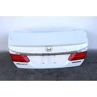Honda Accord Sedan Hybrid 14-17 Trunk Deck Luggage Lid White 68500-T3V-A90 OEM A932 2014, 2015, 2016, 2017