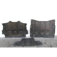 Nissan Leaf Under Engine/Battery Cover Plastic Splash Shield Set (3) OEM 2011-2012