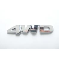 """Honda Element 09-11 Emblem Logo """"4WD"""" Rear Trunk 75719-SZA-A01 A930 2009, 2010, 2011"""