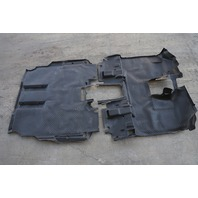 Honda Element Interior Floor Carpet Covering Front/Rear Rubber Gray OEM 09-10 A930 2009, 2010