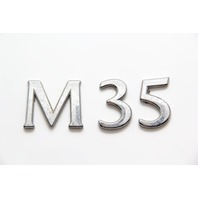 "Infiniti M35 Emblem Logo Trunk Deck Luggage Lid ""M35"" 84896-EH000 OEM 06-08"