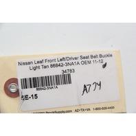 Nissan Leaf Front Left/Driver Seat Belt Buckle Light Tan 86842-3NA1A OEM 11-12
