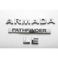 Nissan Armada Lift Gate Trunk Emblem Badge Logo Deck Lid OEM 04-10 A598