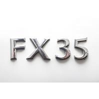 Infiniti FX35 Rear Trunk Lid Lift Gate Emblem FX35 90896-CG000 03 04 05 06 07 08