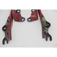 Mazda RX-8 RX8 Hood Hinge Left/Right 2 Piece Set Kit Red OEM 04-08
