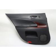 Lexus GS350 Rear Door Panel Trim Left Tan Black OEM 07-11 A909 2007, 2008, 2009, 2010, 2011