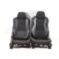 Nissan 350Z 03-07 Front Seat Left/Driver Right/Passenger Black/Orange Leather A935 2003, 2004, 2005, 2006, 2007