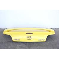 Mazda RX8 04-08 Trunk Deck Luggage Lid w/ Spoiler Yellow OEM F1Y15261XB