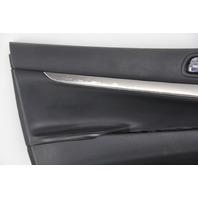 Infiniti G37 Sedan 12 13 Door Panel Trim Lining Front Left/Driver 880901-JU71E