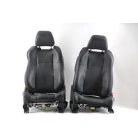 Nissan 350Z 03-07 Front Seat Left/Driver Right/Passenger Black/Orange Leather