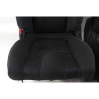 Nissan 350Z 03-06 Front Seat Left/Driver Right/Passenger Black/Orange Cloth