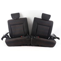 Honda Element SC Rear Seat Set 07-08 Right/Left Side Black/Orange Cloth OEM