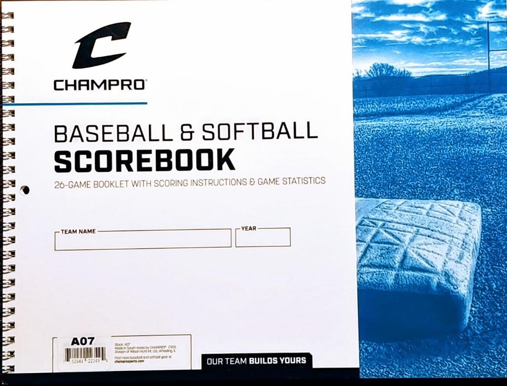 Baseball Scorebook Softball Scorebook Champro Official Baseball