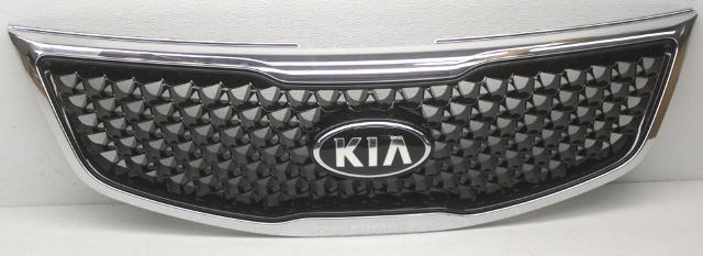 OEM Kia Sportage EX, LX Upper Grille Mesh Type - Chrome Bubbling 86350-3W500