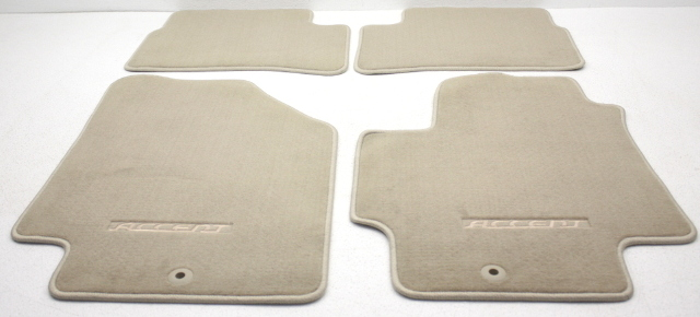 OEM Hyundai Accent 4-Piece Beige Carpet Floor Mat Set 08140-1E0110R