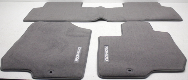 OEM Kia Rondo 4-Piece Gray Carpet Floor Mat Set P8140-1D010S8