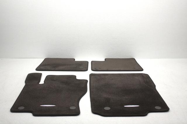 OEM Mercedes GLS-Series GLE-Series 4-Piece Floor Mat Set Espresso Brown Carpet