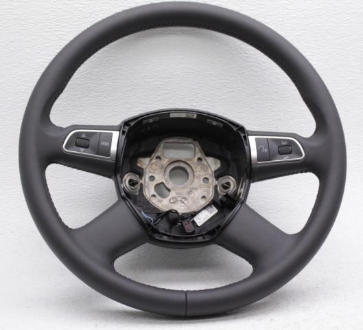 OEM Audi A6, A8, Q7, S6, S8 Black Leather 4-Spoke Steering Wheel 4E0419091CMW88