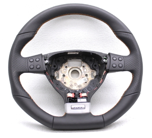 OEM Volkswagen GTI Black Leather Orange Stitching Steering Wheel 1K0419091GLXVG