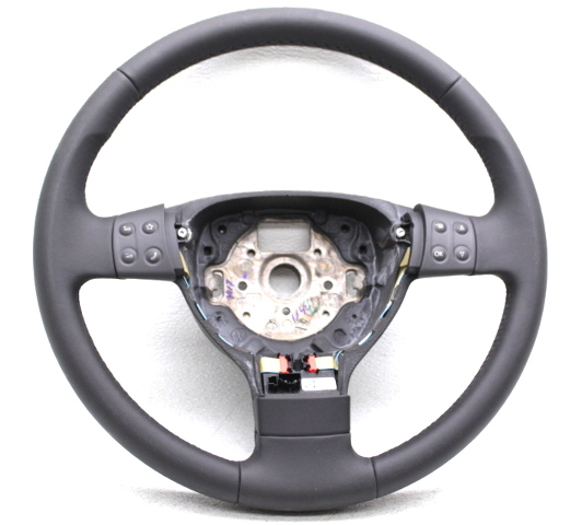 OEM Volkswagen Passat Black Leather 3-Spoke Steering Wheel 3C0419091RE74