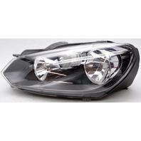 OEM Volkswagen Golf, Golf GTI Left Driver Side Halogen Headlamp Surface Cracks