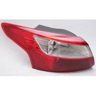 OEM Ford Focus Sedan Outer Left Driver Side Tail Lamp - Lens Crack & Spots