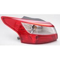 OEM Ford Focus Sedan Outer Left Driver Side Tail Lamp - Lens Crack Repaired