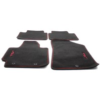 OEM Kia Soul Black Carpet w/Red Logo 4-Piece Floor Mat Set B2F14-AC300