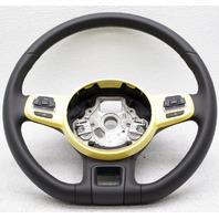 OEM Volkswagen Beetle Steering Wheel 5C0419091AGB1B Yellow